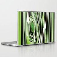 Abstract Circle Green Ve… Laptop & iPad Skin