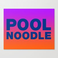 POOL NOODLE Canvas Print