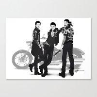 Outrun My Gun Canvas Print