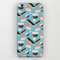 sweet things (on blue) iPhone & iPod Skin
