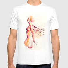 comes light Mens Fitted Tee White SMALL
