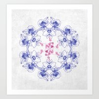 Flower Cirkle Art Print