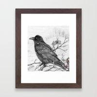 Midwinter Raven V2 Framed Art Print