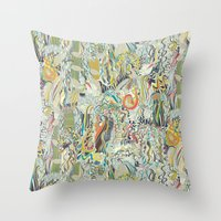 hairspray jungle Throw Pillow