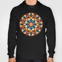 Colorful Concentric Motif Hoody
