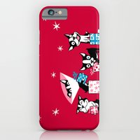 iPhone & iPod Case featuring Bostie Holidays by DoggieDrawings
