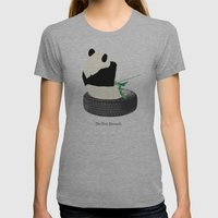 Do Not Disturb. PANDA Womens Fitted Tee Athletic Grey SMALL