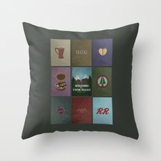 Twin Peaks colors Throw Pillow
