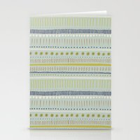 Teal & Green Pattern Stationery Cards
