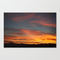 Rocky Mountain Silhouette Canvas Print