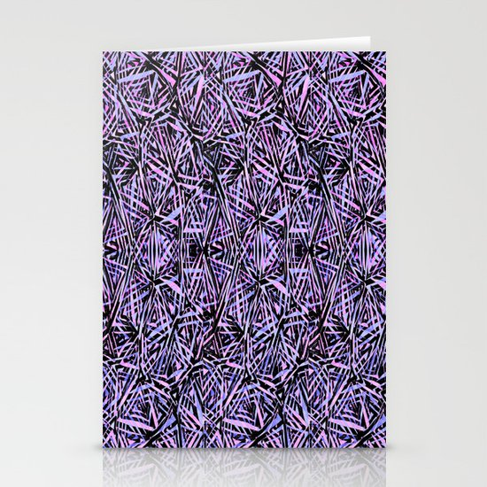 Purple Reflections Stationery Card