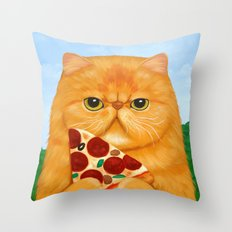 PIZZA FOR LUNCH Throw Pillow