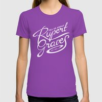 Tell Us About Rupert Gra… Womens Fitted Tee Ultraviolet SMALL
