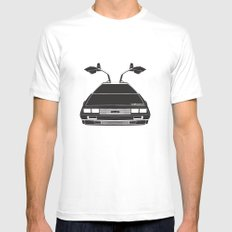 Delorean DMC 12 / Time machine / 1985 Mens Fitted Tee SMALL White