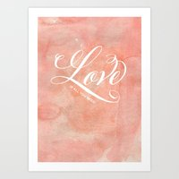 Love Is All You Need Wat… Art Print