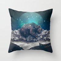 Throw Pillow featuring Under the Stars (Ursa Major) by soaring anchor designs
