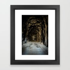 Snow Shred Tunnel Framed Art Print