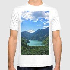 Mountain lake Ritsa. Abkhazia. Mens Fitted Tee White SMALL