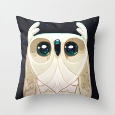 Starla the Owl Throw Pillow