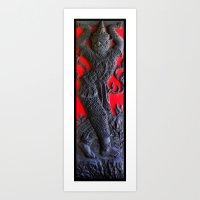 Thai Wood Carving A Art Print