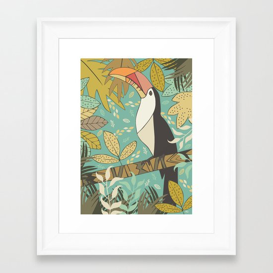 Forest Toucan  Framed Art Print