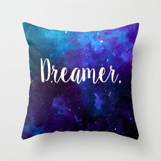 Dreamer in space. Throw Pillow