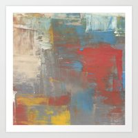 Multicolor Brush Strokes Art Print