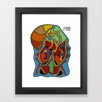 Stuck In Colour Framed Art Print