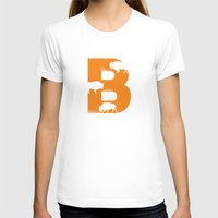 B is for Bison - Animal Alphabet Series Womens Fitted Tee White SMALL
