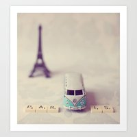 Way to Paris  Art Print