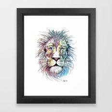 Technicolor Cat Framed Art Print