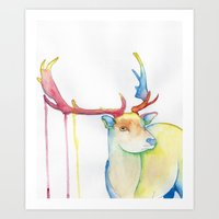 Art Print featuring Elk by Eric Weiand