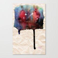 Little Nebula Watercolor Canvas Print