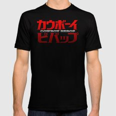 Cowboy Bebop Logo Remix Black Mens Fitted Tee SMALL