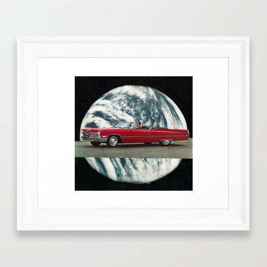 red mirror... Framed Art Print