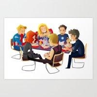 Avengers- Shawarma Art Print
