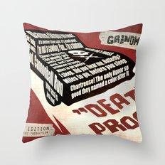 Deathproof redux Throw Pillow