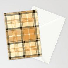 Gold Tartan Stationery Cards