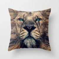 King Of Judah Throw Pillow