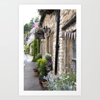 English Garden -  Tea Room Art Print