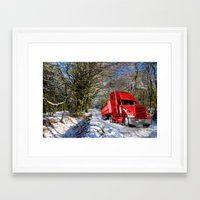Holidays are coming  Framed Art Print