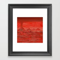 Tongues Lay Sizzling In … Framed Art Print