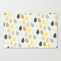Rain Drops Pattern Canvas Print