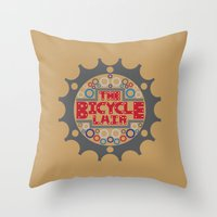 The Bicycle Lair Throw Pillow