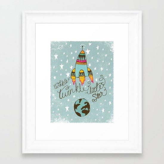 TWINKLE TWINKLE LITTLE STAR Framed Art Print