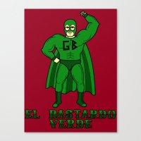 El Bastardo Verde Canvas Print