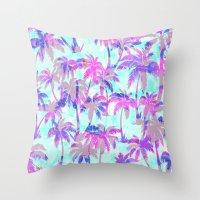 Maui Palm {Pink} Throw Pillow