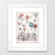 Voyages Over San Francis… Framed Art Print