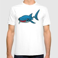 Whale Shark Mens Fitted Tee White SMALL