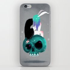 Girl and Skull iPhone & iPod Skin